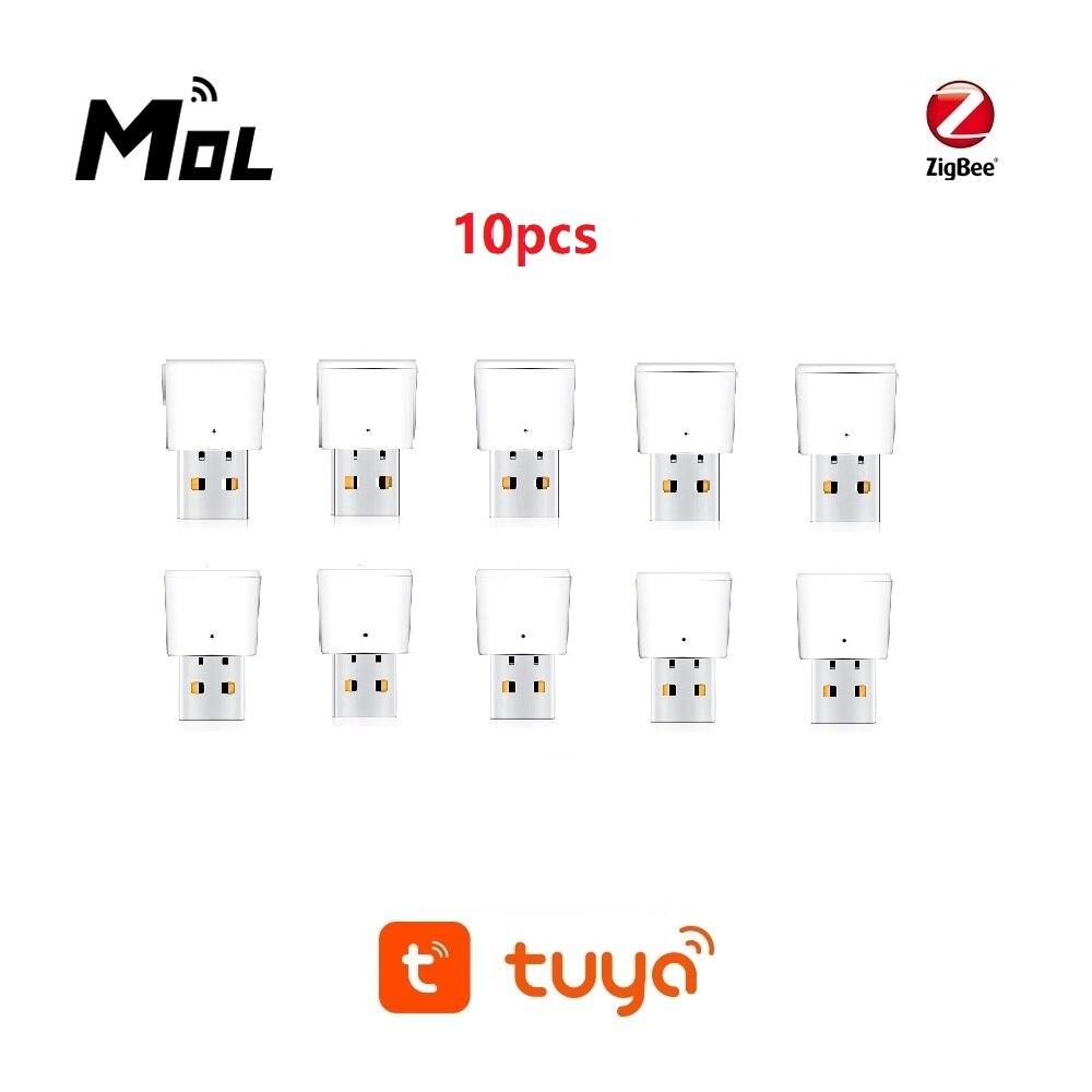 Tuya 10 قطعة زيجبي مكرر إشارة USB زيجبي محور إشارة توسيع 20-30 متر وحدة أتمتة المنزل الذكي