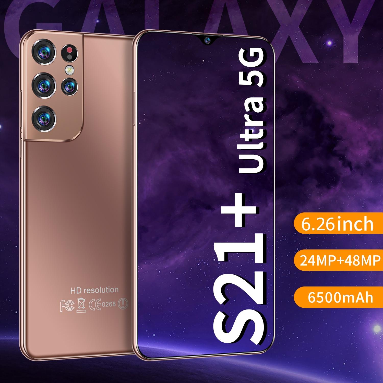 6.26 Inch HD Full Screen Smart Phone 8GB RAM 256GB ROM CECTDIGI S21+ Ultra Smartphone Android Unlocked Dua Sim 5G Mobile Phone