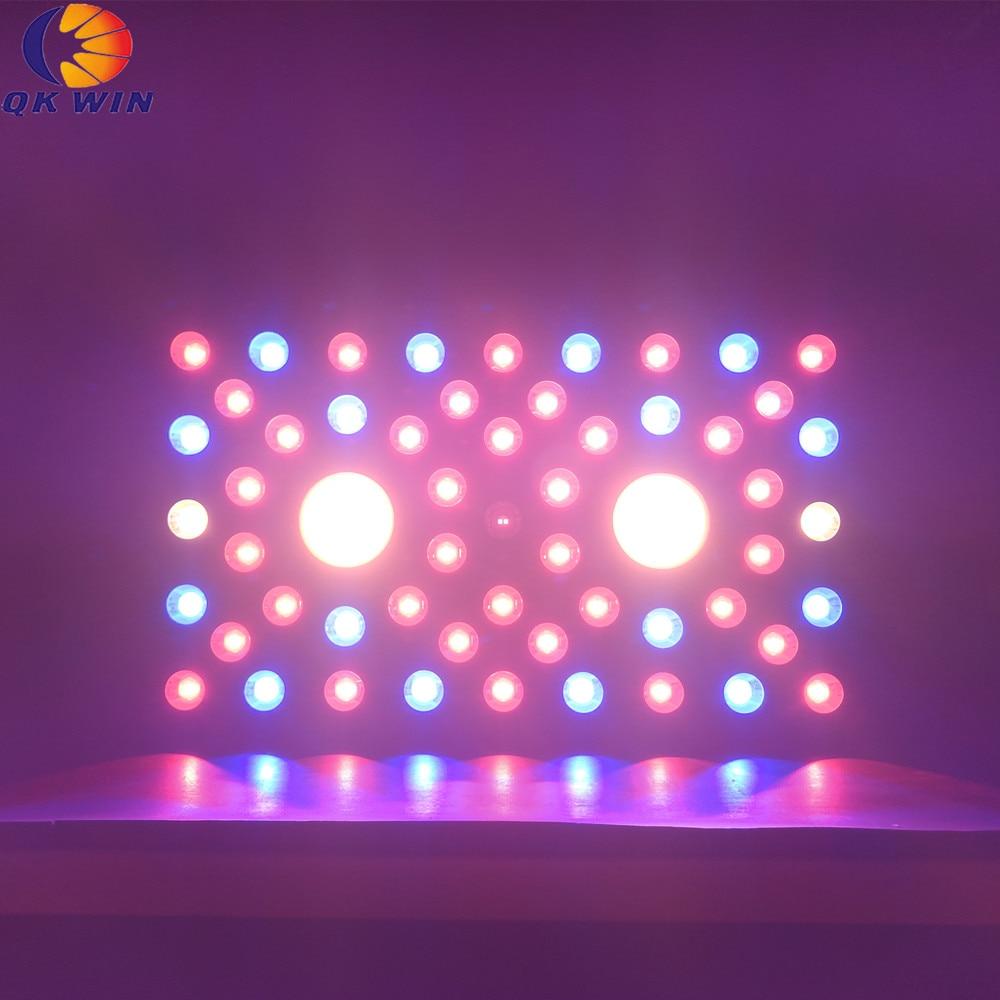 Qkwin COB led crece la luz 1200W bridgelux chip LEDS espectro completo con COB y doble chip led lente dual para alto valor par