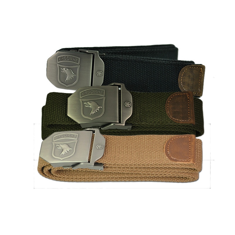 brand canvas casual 2021 Hot Men Canvas Combat Belt Military Equipment High Quality Nylon Casual Canvas Belt Luxury For Men Tactical Brand Symbol