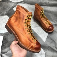 yq2996 rock can roll size 35 49 super quality genuine italian cow leather handmade durable goodyear welted american work boots