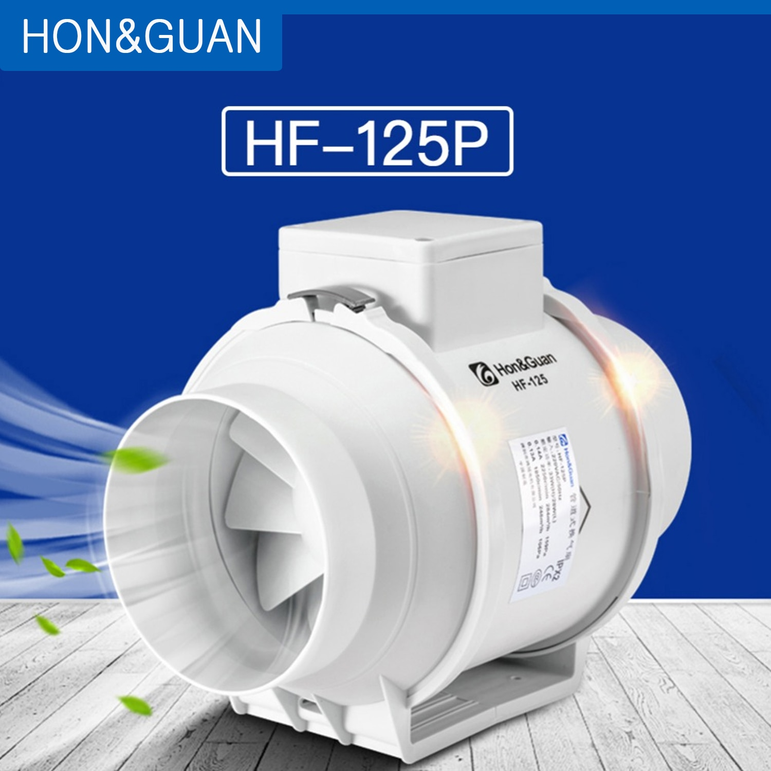5'' Silent Inline Duct Fan 220V Air Extractor for Hydroponic Gardenging Grow Tent Blower Exhaust Ven