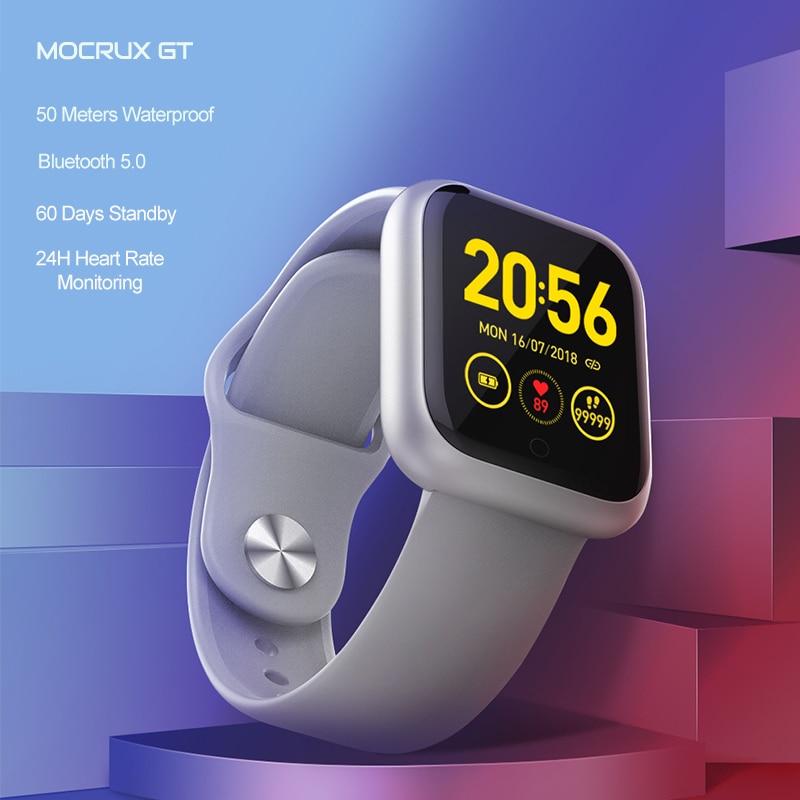 Mks smartwatch ip68 à prova dip68 água wearable dispositivo bluetooth pedômetro monitor de freqüência cardíaca display colorido relógio inteligente para android/ios