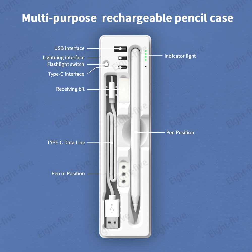 Suitable for Apple ipadpencil generation Huawei Logitech type-c, USB charging handwriting touch scre