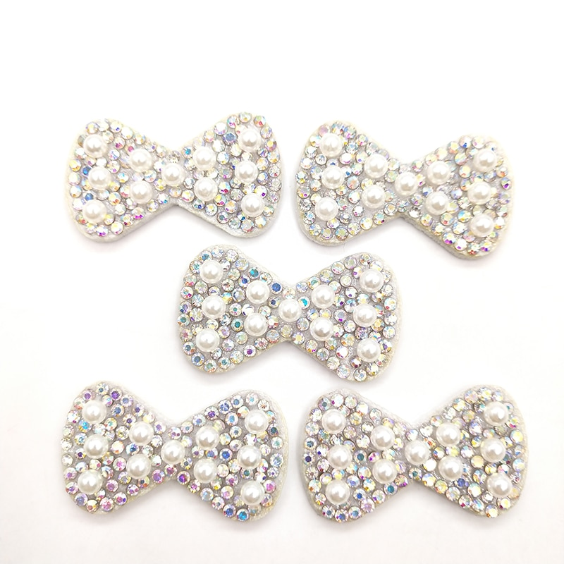 AliExpress - 40Pcs 3.7X2.2CM Padded Pearl Bowknot Applique for DIY Clothes Hat Shoes Headwear Hair Clips Decor Patches