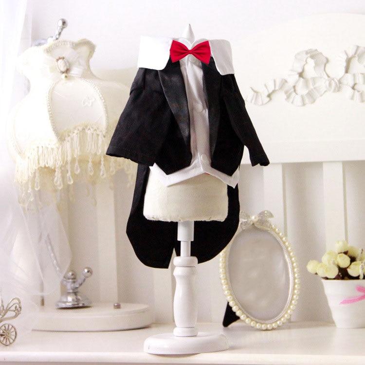 Свадебное платье с котом для домашних животных для мальчиков, костюмы-смокинги для собак и кошек, одежда для щенков и котят, костюм для сваде...