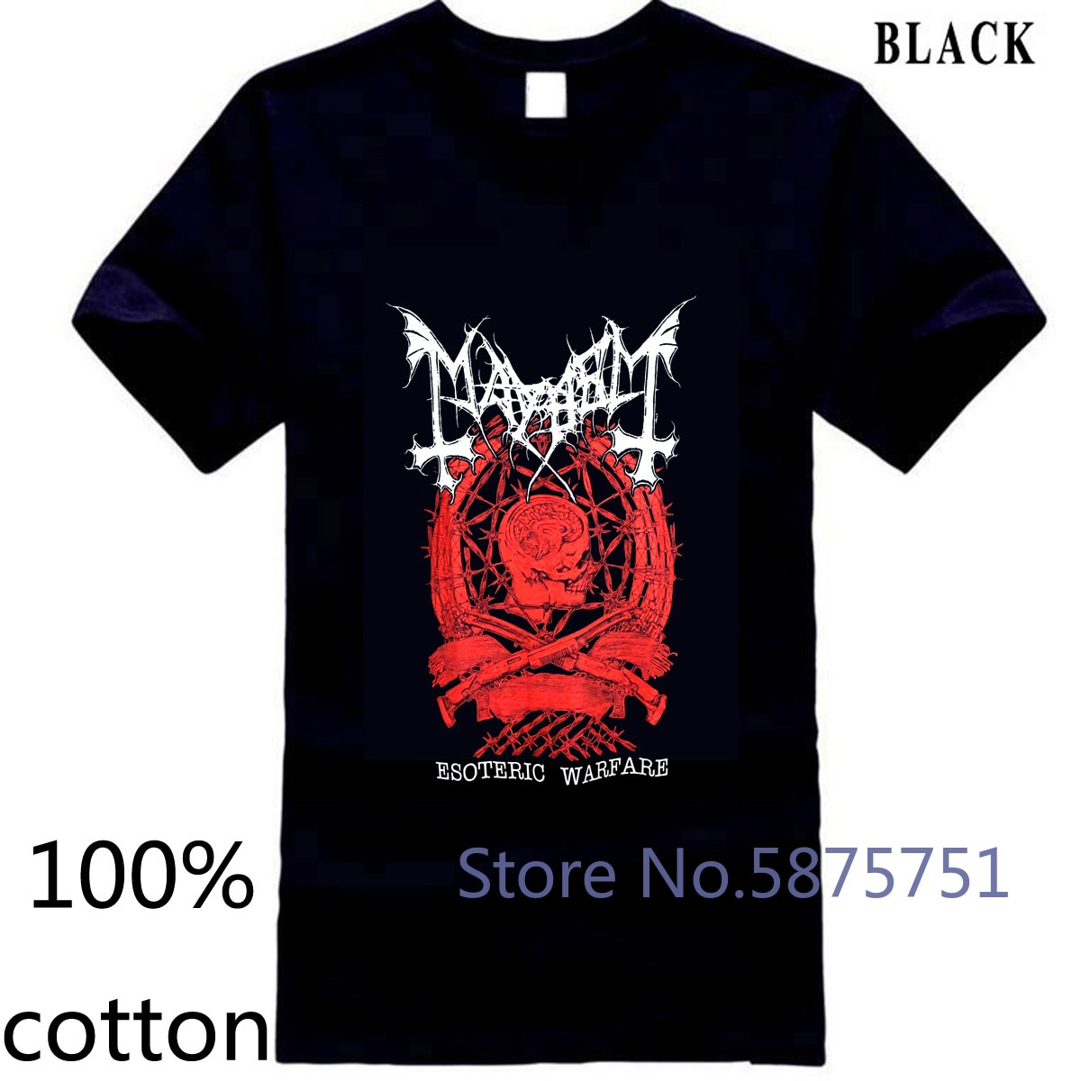 BNWT Mayhem Esoterische Warfare Crest Schwarz Band Heiße Neue Männer männer t shirt t-shirt tops tees 100% baumwolle oansatz 3XL 4XL 5XL