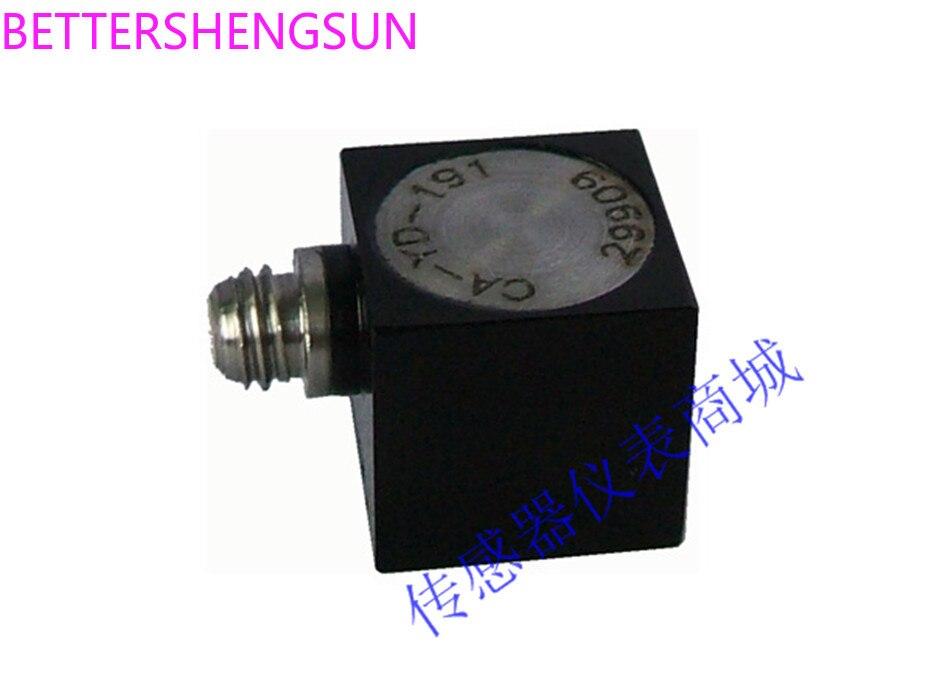 CA-YD-191 Piezo Accelerometer Small Lightweight Isolation Adhesive 50g 100mV/g 1-8kHz