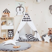 Fashion Nordic Newborn Baby Padded Play Mats Soft Cotton Crawling Mat Girls Game Rugs Round Floor Carpet For Kids Interior