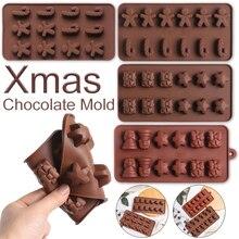 2020 noël chocolat moule de noël forme Design Cookie façonnage décoration plateaux de cuisson pain dépice homme noël bonbons moule