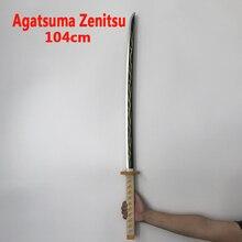 Japon Cosplay Kimetsu no Yaiba épée arme démon tueur Agatsuma Zenitsu épée Anime Ninja couteau jouet en polyuréthane 104cm