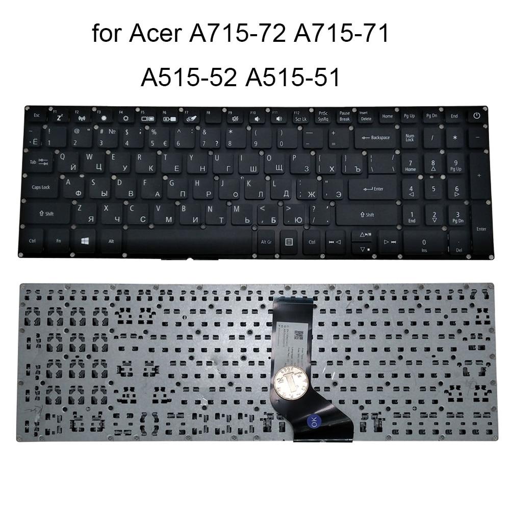Teclado de laptop russo para computador notebook, acer aspire 5 tamanhos coloridos