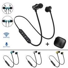 Bluetooth 4.2 stéréo écouteur casque sans fil magnétique dans loreille écouteurs sport 4 couleurs avec micro pour IPhone 7 Samsung