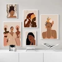 Toile dart mural avec fille noire  peinture sur toile  affiches et imprimes nordiques  tableau mural pour decoration de salon et de maison