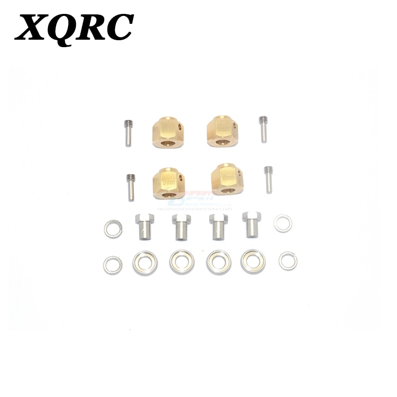 XQRC For trx4 aluminum alloy hexagon adapter 9mm thick with 4 stainless steel screws, 1 set, hexagon adapter set