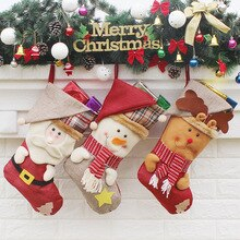 1 Pc Christmas Stockings Festival Celebration Originality Decorate Christmas Ornaments Holiday Suppl