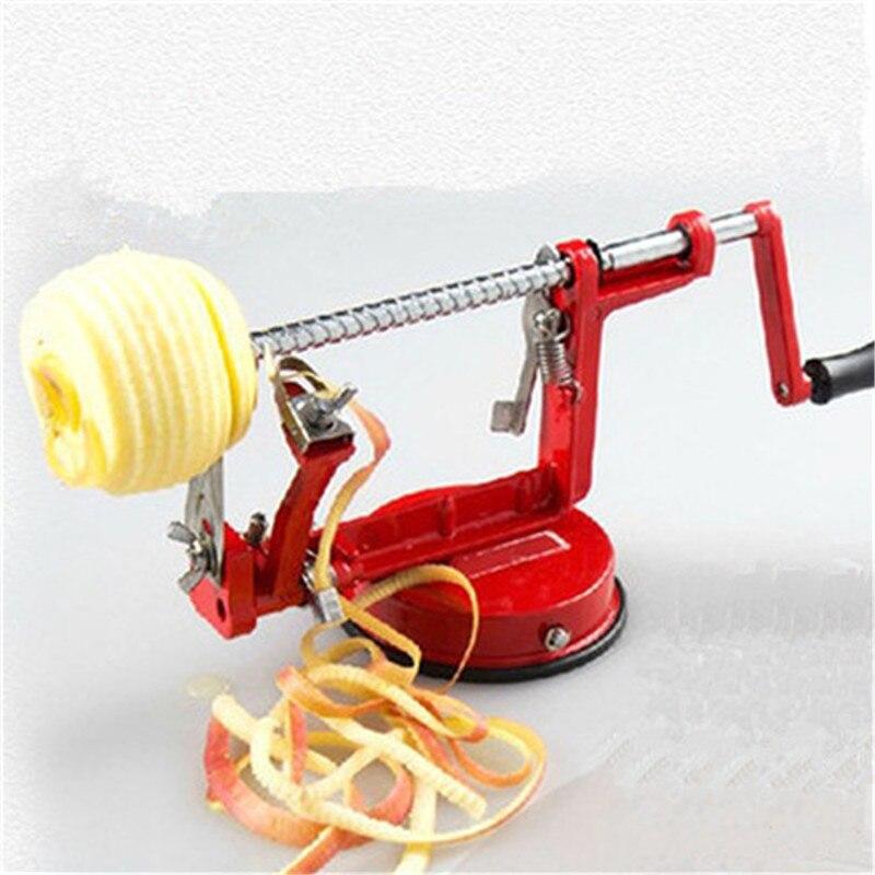 3 in 1 Stahl Obst Kartoffel Apple Maschine Schäler Corer Slinky Hobel Cutter Bar Hause Hand-gekröpft Clipping Obst kartoffel Schäler