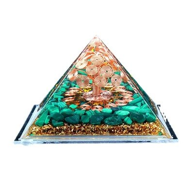 Abundant Healing Wealth Tree of Life High Frequency Ogang Ogan Energy Pyramid Home Desktop Meditation Handmade Decoration