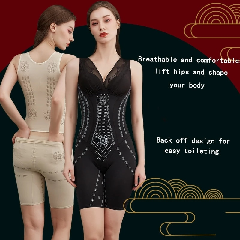 Ladies one piece body sculpting vest Caffeine body shaper back-off design, hip lifting and abdomen b