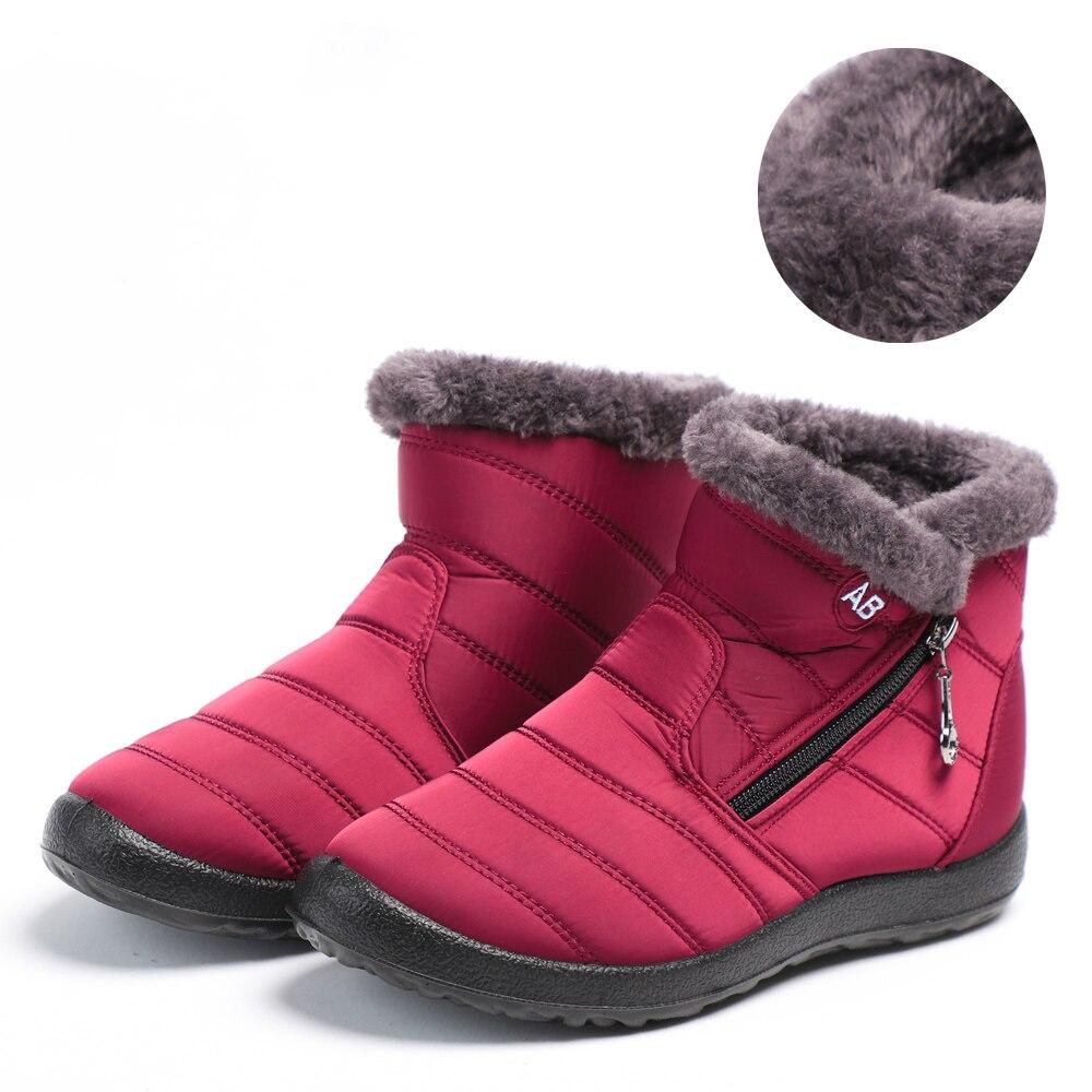 Женские ботинки; Водонепроницаемые зимние ботинки; Женская зимняя обувь из плюша; Женские теплые зимние ботильоны; Зимняя обувь; Женская повседневная обувь на плоской подошве с круглым носком