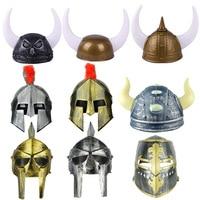 2021 Creative Holiday Halloween Ball Supplies Horn Hats Pirates Viking Hats Roman Soldiers Hats Samurai Hats Soldier Helmets