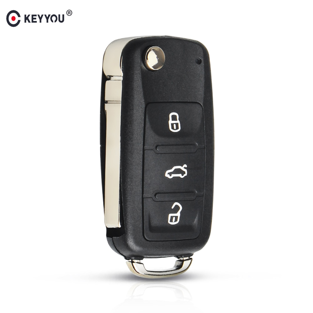 KEYYOU Flip Folding Remote Car Key Fob For Volkswagen VW Tiguan GOLF PASSAT Polo Jetta Beetle Hella 434MHz ID48 Chip 5K0837202AD