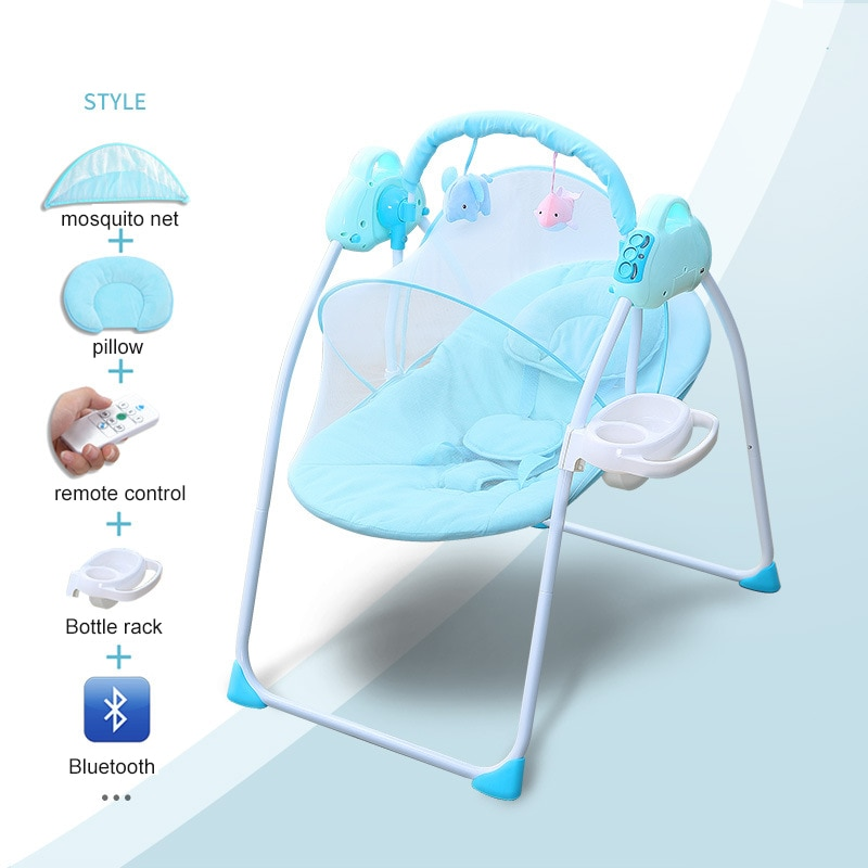 Baby Swing Electric rocking chair Newborn Baby Cradle Portable Baby Soothing Rocker with Remote Control 0-18 month