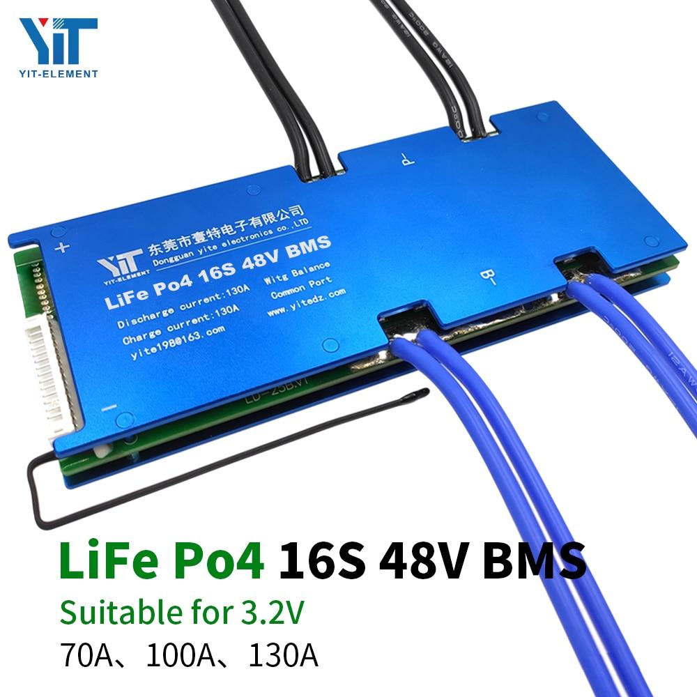 بطارية ليثيوم, بطارية موديل 16S 48V بطارية ليثيوم 3.2 فولت حماية الطاقة لوحة حماية درجة الحرارة وظيفة معادلة حماية التيار الزائد BMS PCB