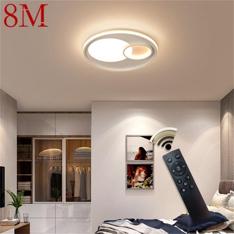 8m luminarias de teto com controle remoto regulavel 220v 110v moderno decorativo