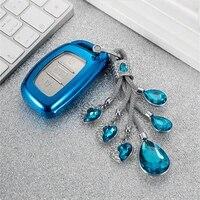 tpu car key case cover protection for hyundai i10 i20 i30 hb20 ix25 ix35 ix45 hb20 2015 smart key shell car styling key chain