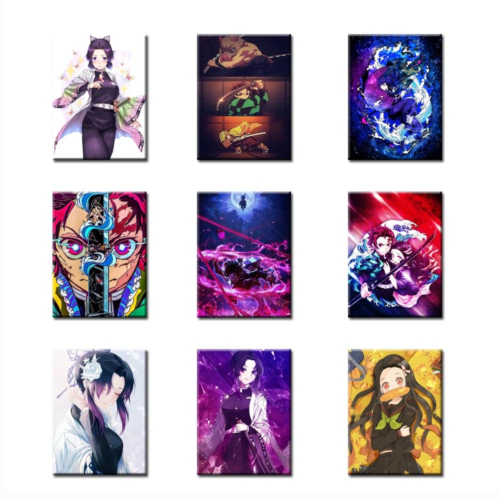 Pintura diamante demônio slayer kimetsu não yaiba broca quadrado completo japão animação 5d decoração da casa ponto cruz bordado imagens