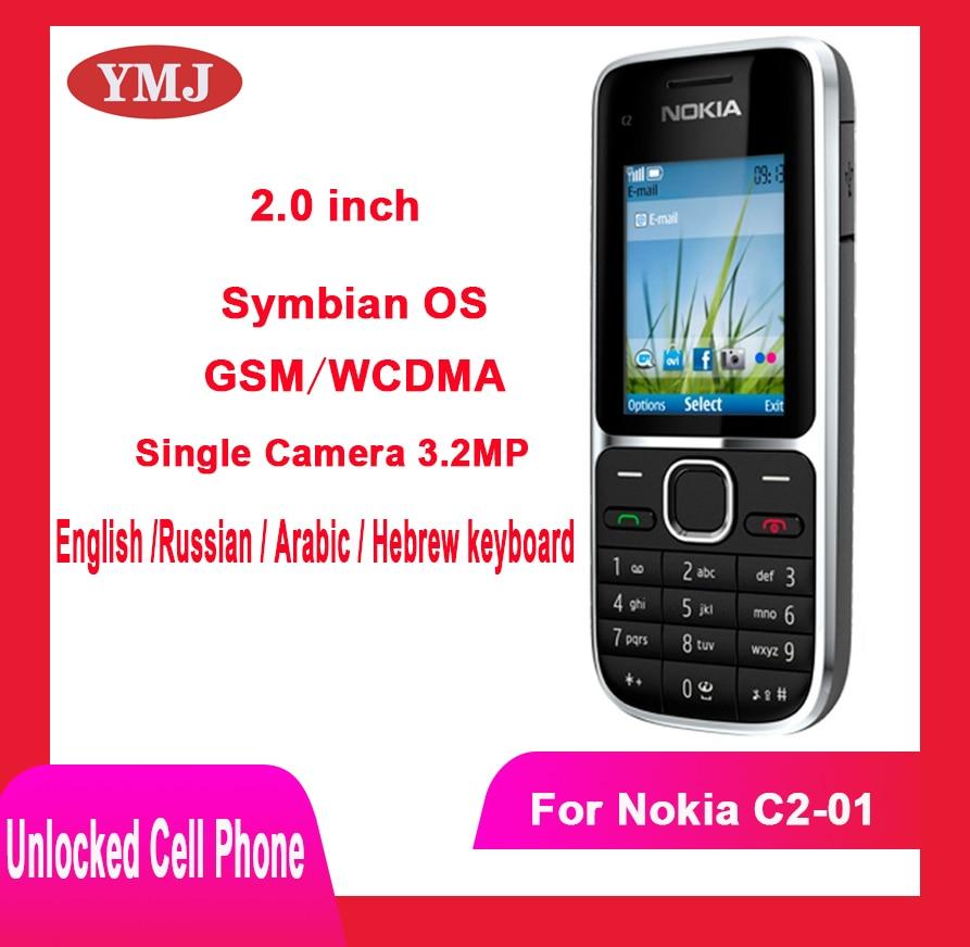 Перейти на Алиэкспресс и купить Nokia C2 C2-01 разблокирована GSM мобильный телефон на английском языке и арабский и иврит и русской клавиатурой оригинальный Подержанный Мобильн...