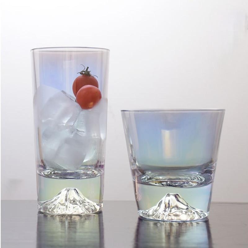 Vaso De Cristal transparente para Whiskey, Cristal colorido japonés creativo De 290ml/304ml,...