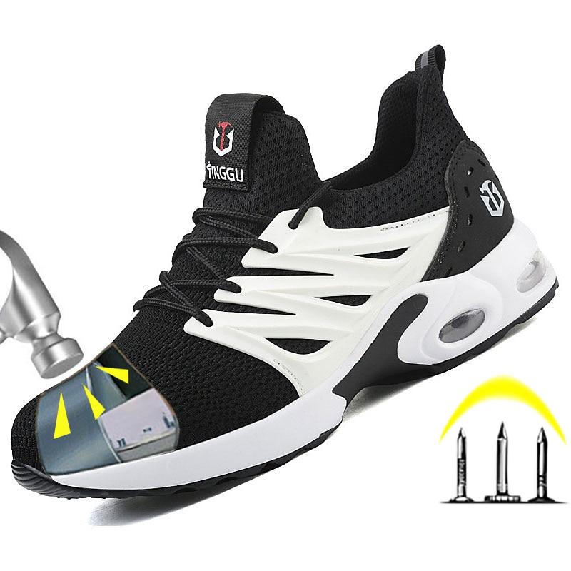 جديد الرجال الأحذية الصلب اصبع القدم كاب العمل أحذية السلامة أحذية الرجال أحذية السلامة تنفس العمل حذاء رياضة ثقب واقية الرجال الأحذية