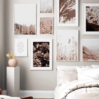 grass nature scenery picture flower plant poster landscape wall art canvas painting nordic style modern print for living room