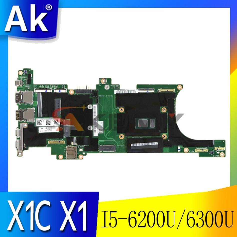 01LV446 01AY094 01AY092 для Lenovo ThinkPad X1C X1 углерода 5th Материнская плата ноутбука DX120 NM-B141 с процессором I5-6200U/6300U 8GB-RAM