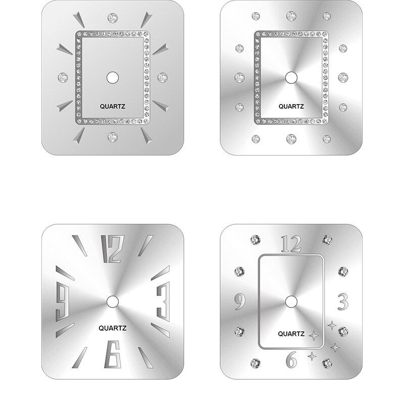 Креативный модный металлический циферблат 28,5/38,9 мм Роскошные качественные красивые повседневные мужские и женские квадратные часы аксесс...