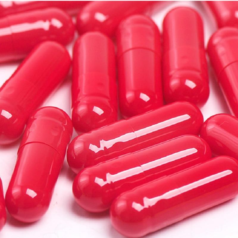 100 шт./лот 1 # красные пустые желатиновые капсульные ракушки, «сделай сам» хорошее качество медицинская пудра упаковочная бутылка, «сделай са...