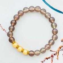 Fashion Simple Natural Stone Beaded Bracelet for Women and Men Tea Crystal Gemstone Bracelet Handmad