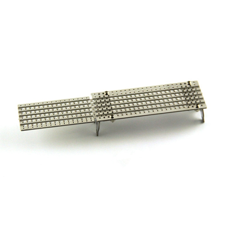 Metal Stainless steel antiskid pedal For 1/14 Tamiya RC Truck Benz Actros 1851 Mud head car Dump truck Upgrade parts accessories enlarge