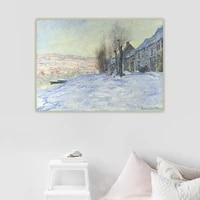 citon claude monet%e3%80%8alavacourt under snow%e3%80%8bcanvas oil painting artwork poster picture wall background decor home indoor decoration