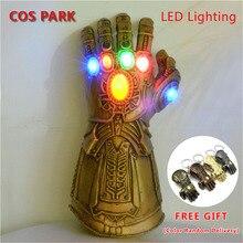 Thanos Infinity Gauntlet War, косплей, супергерой, Мстители, светодиодный светильник, вспышка, светодиодный, перчатка, Вечерние перчатки для Хэллоуина, р...