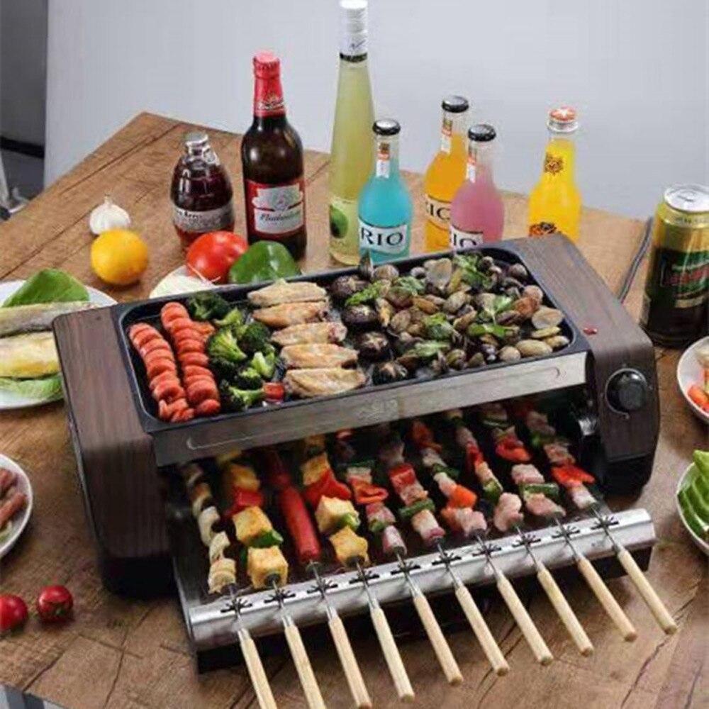Электрический гриль для барбекю для пикника на открытом воздухе, многофункциональный высококачественный гриль для барбекю из нержавеющей ...