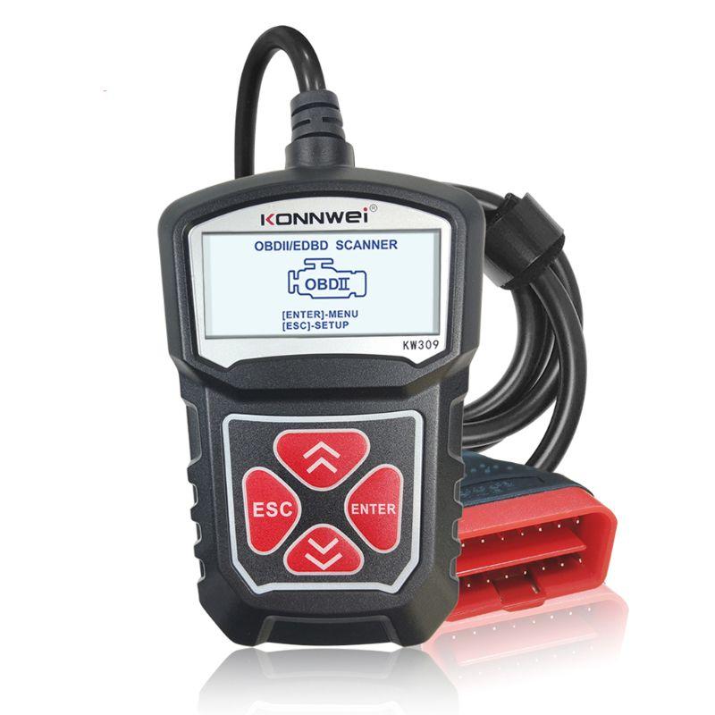 Professionelle Auto Code Reader Diagnosescan-werkzeug KW309 OBD2 Scanner M2ED
