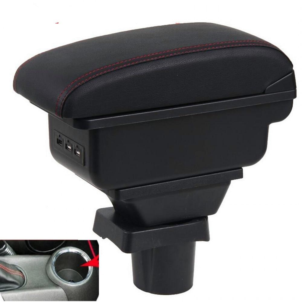 مسند ذراع للسيارة من ميني كوبر ، صندوق مسند ذراع للسيارة عالمي ، ملحقات تعديل وحدة التحكم المركزية ، مزدوج الارتفاع مع USB ، لـ R50 ، R52 ، R53 ، R56 ، ...