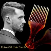 amber retro oil head comb smooth hair tangled hair brush anti static hand grip wide tooth comb hair styling tool