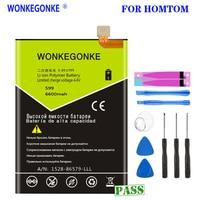 WONKEGONKE For HOMTOM S99 battery 6600mah battery