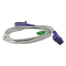 Cable de extensión con Sensor SpO2 reutilizable, DEC-8 macho a hembra DB9 para Monitor de paciente Nellcor, tecnología de Oximax