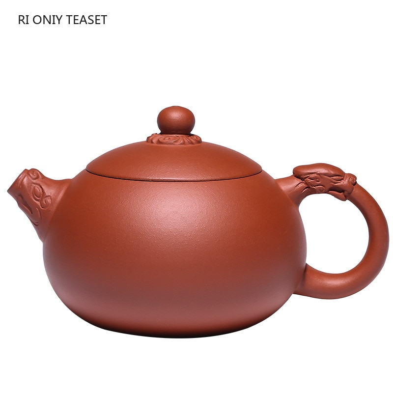 Yixing-أباريق شاي من الطين الأرجواني Yixing ، 310 مللي ، إبريق شاي Xishi ، غلاية تجميل ، خام ، صناعة يدوية ، طقم شاي Zisha أصلي
