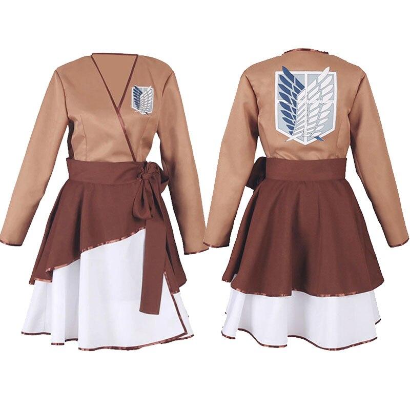 2021 New Costumes Attack on Titan Cosplay Skirts Scout Regiment Costume Lolita Uniforms Woman's Kimono Recon Corps JK Uniform